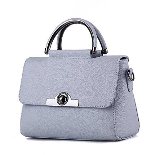 Borsa della borsa della borsa di Tote del sacchetto di spalla della nuova borsa delle donne Grigio