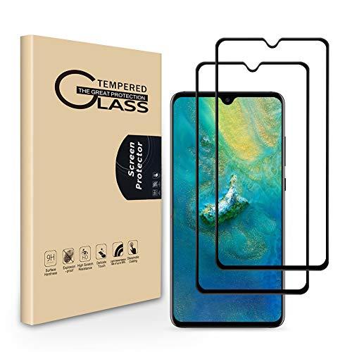 Seinal Panzerglas Schutzfolie für Huawei Mate 20 [2 Stück] 3D Full Screen Displayschutzfolie,Panzerglasfolie,Tempered Glass,3D Touch Hartglas,Screen Protector Glass,Handy Folie für Mate 20(Schwarz) -