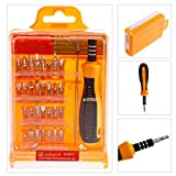 32 in 1 Magnetic Screwdriver Set with 29 Magnetic Driver Kit Precision Screw Driver Set, Screwdriver Repair Kit Tool For Electronics/Xbox/Smartphone/Tablet/PC/MAC (32)