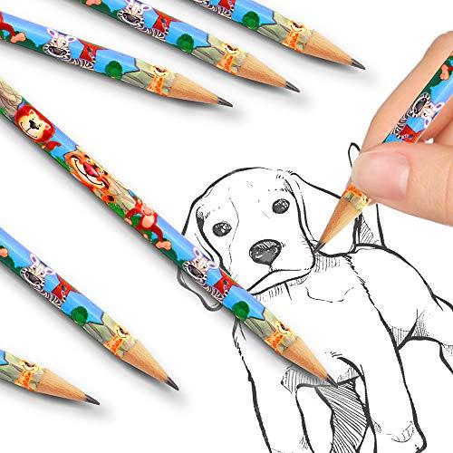 24 x Safari Tiere - Party - Bleistifte mit Radierer Kindergeburtstag ┃ Mitgebsel ┃ Dschungel - Party ┃ 24 Stück ()
