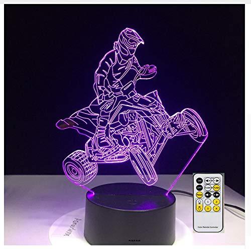 4 Räder Berg Auto Motor Racing Sport 3D Lampen 7 Farbe Usb Nachtlampe Led Lichter Für Kinder Geburtstagsgeschenk