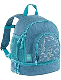 Lässig Mini Backpack About Friends mélange blue Mochila infantil, 27 cm, Azul (Blue)