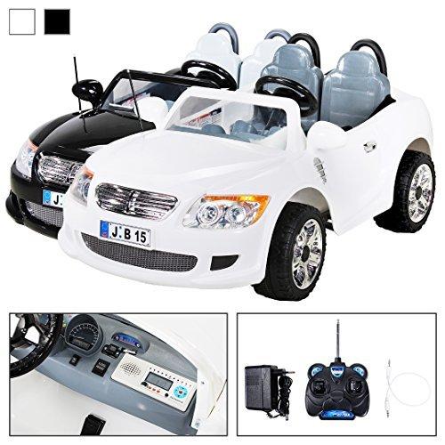 Actionbikes Kinder Elektroauto 2-Sitzer B15 mit 2 x 45 Watt Motor EXTRA GROß Elektro Kinderauto Kinderfahrzeug (weiss)