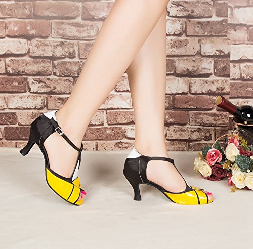Miyoopark , Salle de bal femme Black/Yellow-7.5cm heel