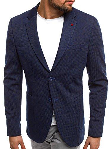 BLU da ozn430 MANTELLA LAVORO SCURO vestito Giacca uomo CORTA ozonee SFxf8qARw4