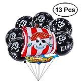 YeahiBaby 13st Piratenparty begünstigt Piraten Metallic Latex und Aluminiumfolie Ballons Set Piraten unter Dem Motto Geburtstagsparty Dekorationen