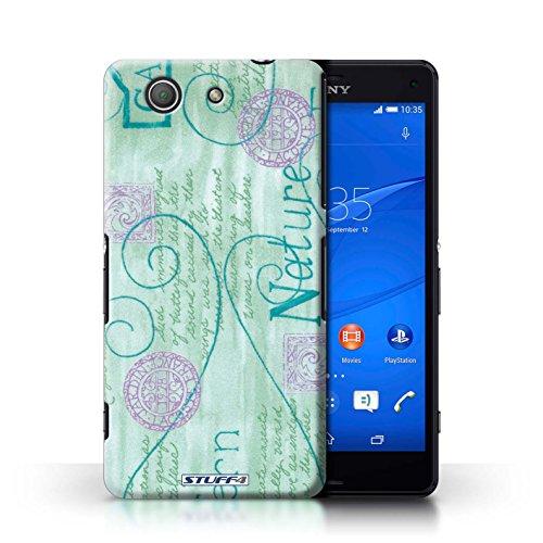 Kobalt® Imprimé Etui / Coque pour Sony Xperia Z3 Compact / Rose / Jaune conception / Série Motif Nature Turquoise / Violet