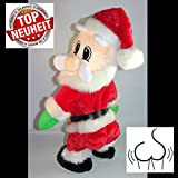 XL Twerking und Singender lustiger Weihnachtsmann 35 cm hoch~twerkender Popo + tanzender Santa animiert~Nikolaus~NEUHEIT 2017~WEIHNACHTSDEKO~