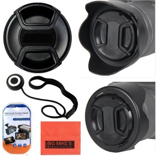 52mm Reversible Digital Tulip Flower Lens Hood And Lens Cap For Canon Digital EOS Rebel SL1, T1i, T2i, T3, T3i, T4i, T5, T5i EOS60D, EOS70D, 50D, 40D, 30D, EOS 5D, EOS5D Mark III, EOS6D, EOS7D, EOS7D Mark II, EOS-M Digital SLR Cameras Which Has Any Of These Canon Lenses 50mm f/1.8 II, 135mm f/2.8, EF 50mm f/2.5, EF-S 60mm f/2.8, EF-S 24mm f/2.8 STM  available at amazon for Rs.1728