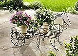 Pflanzständer Kutsche Pflanzwagen Bepflanzung Pflanzenständer Außendeko Gartendeko DS