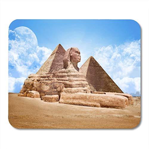Große Sphinx (Luancrop Mausunterlage-Blaue Kairo-Pyramiden Ägypten-große Sphinx Giza-Markstein-Ägypter Mousepad für Notizbücher, Tischrechner-Mausunterlagen, Bürozubehöre)