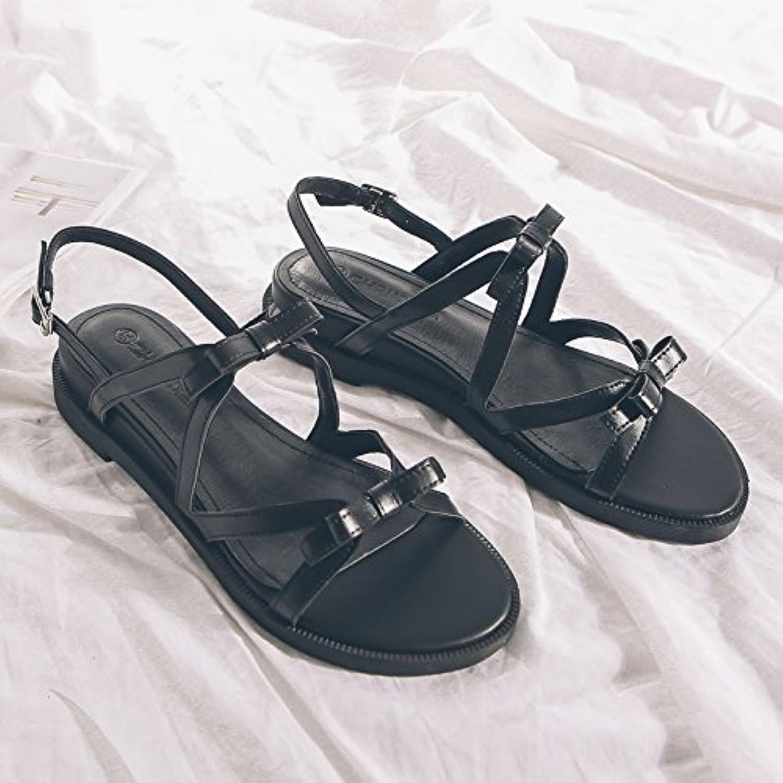 l'été gaolim rosée rosée rosée frette de pied plat les sandales les croix chaussures basses avec un noeud papillon avec b07cbmt5ll parent 4f19f4