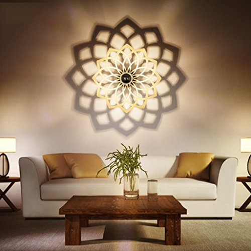 Einfache Wand-Lampe Kreative Led Personalisierte Wohnzimmer Wandleuchte Treppe Eingang Wandleuchte Schlafzimmer Bedside Lampe Wandleuchte Schatten Lampe (größe : Kleine) H/l Lampe