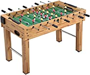 Deluxe Foosball Table Football Soccer Indoor Outdoor Gaming Games Play Arcade Sports Fun