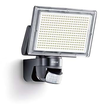 Steinel Sensor LED-Strahler XLED Home 3 schwarz, EEK A, LED-Scheinwerfer mit 140° Bewegungsmelder und max. 14 m Reichweite, 1426 Lumen Helligkeit dank 330 LEDs, 582111