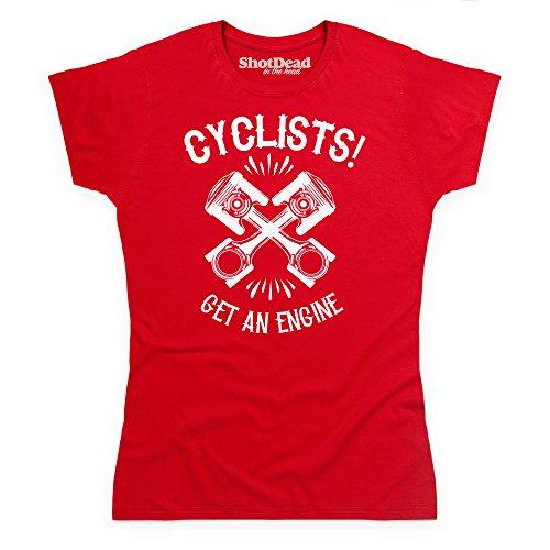 Get An Engine T-Shirt, Damen Rot