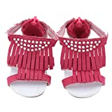 Dinglong Dolls Shoes Tassel Sandals Shoe For 18 Inch Our Generation American Girl Doll, Fashion Doll's Accessories