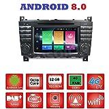 Android 8.0GPS DVD USB SD Wlan Bluetooth Autoradio 2Din NAVI Mercedes C-Klasse W203/C220/C230/C240/C280Mercedes CLK-Klasse W209/CLK200CLK220/CLK 240Mercedes Klasse CLC W203/W467/A209/W219