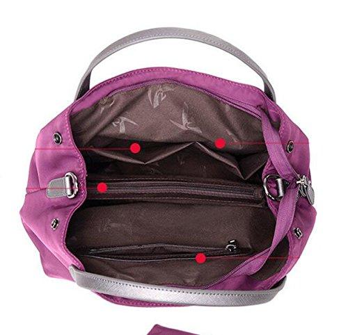 Damen Freizeit Nylon Tuch Schulter Messenger Tasche Oxford Wasserdichte Tuch Tasche Red1
