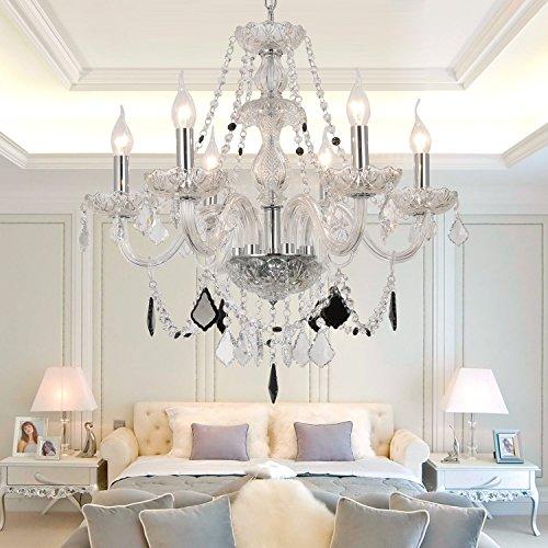 OOFAY LIGHT® Lampada cristallo soggiorno elegante e raffinato 6 camere da letto lampadario di cristallo lampadario di cristallo lampadario di cristallo ristorante - Elegante Cristallo