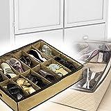4 x Denshine nuevo armario zapatero bajo almacenamiento de la cama cada 12 bolsillos