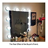 from MIYA Hollywood Vanity Mirror Lights, Led Vanity Light Makeup for Mirror Dressing Tables Kits Bathroom Dressing Table Mirror with Light Dimmer and UK Plug in Lighting Fixture
