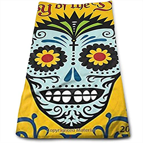 Day of The Dead 2017 Wall Calendar Sugar Skulls Multi-Purpose Microfiber Towel Ultra Compact Super Absorbent and Fast Drying Sports Towel Travel Towel Beach Towel Perfect for Camping, Gym, Swimming.