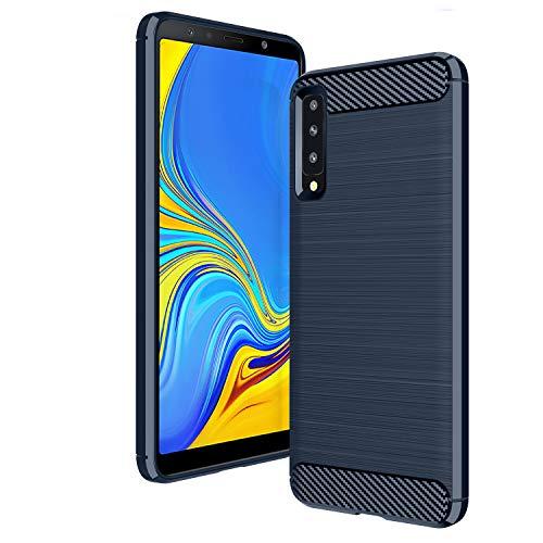 AIFIVE Cover Samsung Galaxy A7 2018, Ultra Slim Silicone Antiurto TPU [Anti Slittamento] [Resistente al Graffio] Protettivo Custodia per Samsung Galaxy A7 2018 (Blu)