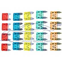Xtremeauto® Small Car Blade Fuse Replacement Kit 20 Piece