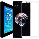 Noziroh Crystal Proteggi Schermo Totale Vetro Temperato Curvo 5D Per Xiaomi Redmi Note 5 Pro AI Pellicola 9H - Bianco