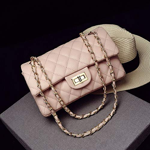 Acampada y senderismo DJBMENG Womens Designer Luxury Brand Handbag Fashion Women Bag Pearl Lock Chain Shoulder Crossbody Bag