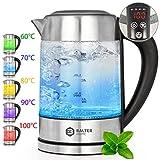 Balter Wasserkocher ✓ Temperatur 60-100C ✓ Warmhaltefunktion ✓ Edelstahl und Glas ✓ BPA FREI ✓ 1,7 Liter ✓ LED ✓
