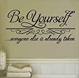 UberLyfe Pigmented Paint-Like Inspirational Be Yourself Quotation Wall Sticker (Wall Covering Area: 57cm x 85cm) - WS-000836-PV