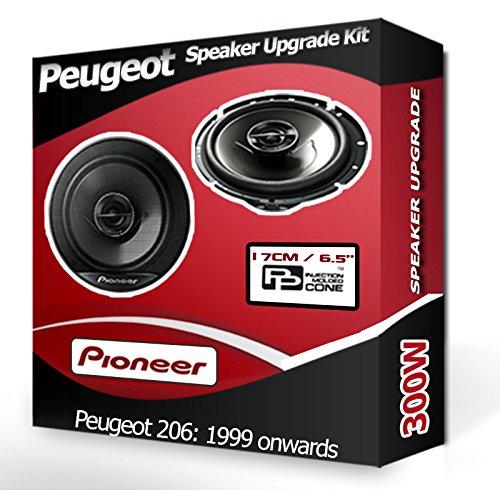 Peugeot Pioneer Haut-parleurs de voiture portière avant 206 240 W