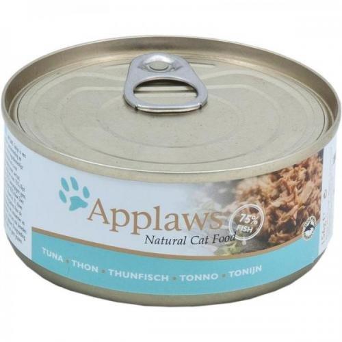 24 x Applaws Thunfischfilet 70 g, Nassfutter, Katzenfutter