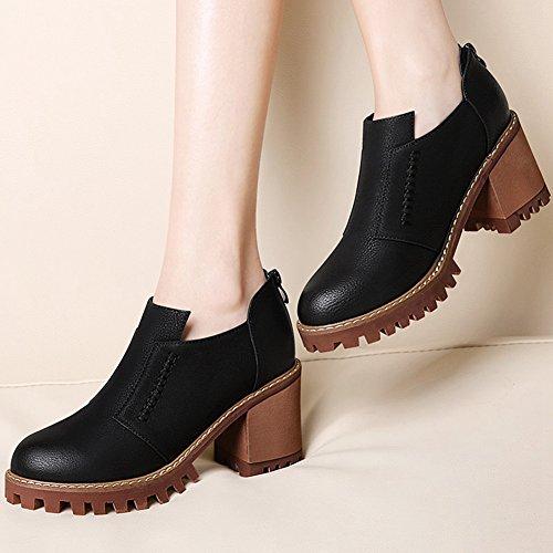 Artfaerie Damen Dicker Absatz High Heels Sandalen mit Reiszlig;verschluss Blockabsatz Pumps Open Toe Schuhe