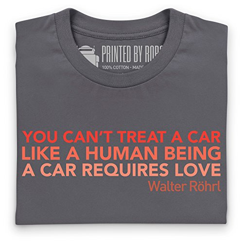 A Car Requires Love T-Shirt, Damen Anthrazit