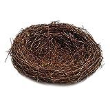 Baoblaze Rattan Vogelnest Geflechte Vine Nest Nesteinleger Feiertags Deko - Braun, 35cm