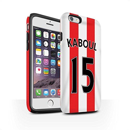 Offiziell Sunderland AFC Hülle / Matte Harten Stoßfest Case für Apple iPhone 6S / Pack 24pcs Muster / SAFC Trikot Home 15/16 Kollektion Kaboul