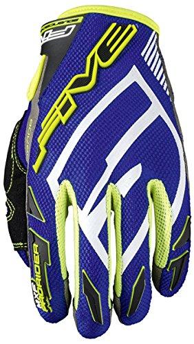 Fünf Advanced Handschuhe MXF-Pro Rider S Erwachsene Handschuhe, Blau/Flo Gelb, Größe 10