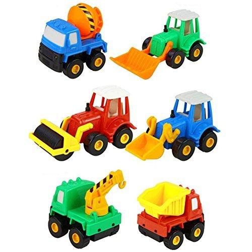 Baustellenfahrzeuge Klein Rennwagen Spielzeug Auto Set Spielzeugauto 6 Pcs Fahrzeuge Kinderspiele für Kinder Jungen Mädchen ab 3 4 5 jahren ()