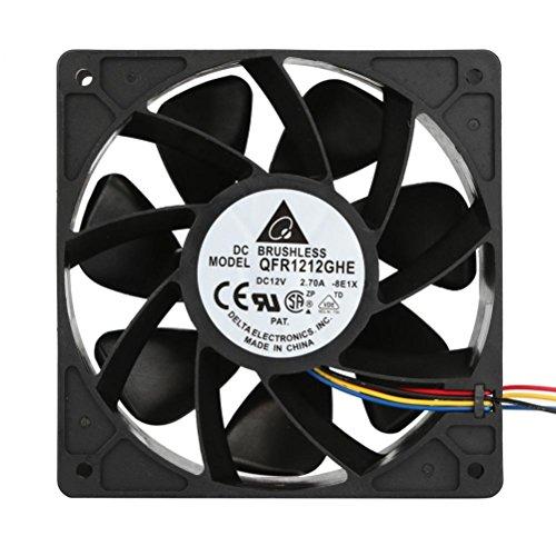 Wokee Freezer Fan Antminer,6000RPM CPU Luftkühler Lüfter Ersatz 4-poliger Stecker für Antminer Bitmain S7 S9 Prozessorlüfter für Intel - Fan-polig