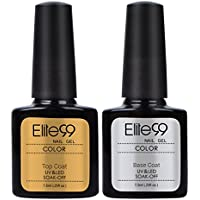 Elite99 Kit de U?as de Gel 2pcs Top Coat Base Coat Esmalte Semipermanente Shellac Laca Soak Off UV LED Manicura Arte 7.3ml
