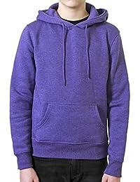REDRUM Hoodie Kapuzenpullover Sweatshirt mit Kapuze Baumwolle Streetwear Style Hoody mel purple