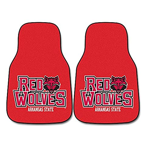 Fanmats 05186 Arkansas State University 2 Piece Front Car Mats