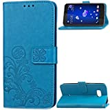 TAITOU HTC Desire 12Plus Wallet Stand Case, Knurling Flower