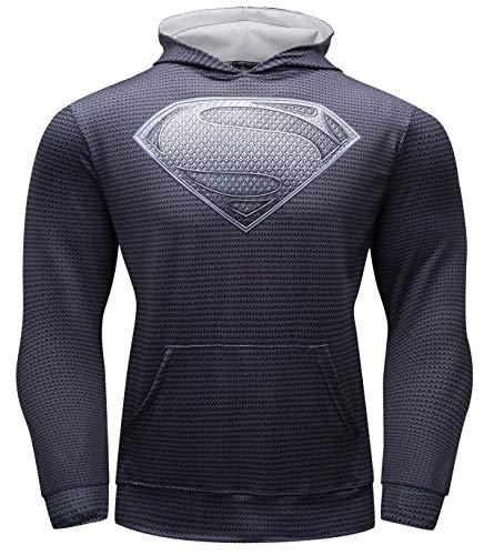 Cody Lundin Hommes Sweat à Capuche Sport Super héros Sweatshirt à Capuche Homme Hoody Veste de Fitness Vêtements D'extérieur pour L'automne Sweatshirts Homme Hoodie (Color-a, XL)