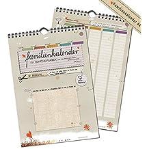 Familienkalender, Familienplaner A4 groß, mit 12 Aufgaben, immerwährend auch als Geburtstagskalender, mit Flyer für 2017 & 2018, 5 Spalten, 21x30cm