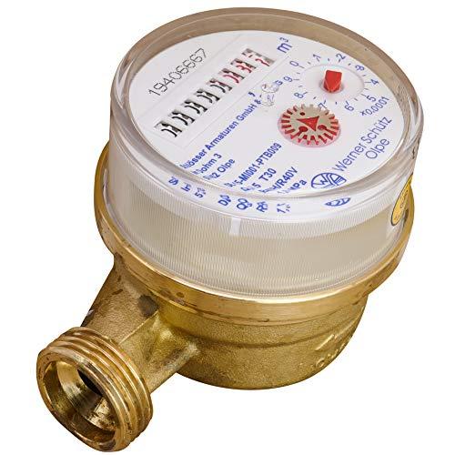 Wasserzähler Außengewinde: 21 mm (G 1/2)
