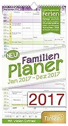 FamilienPlaner 2017 Wand-Kalender, Chäff-Timer, 5 Spalten, 22,5 x 42cm, 12 Monate Jan - Dez 2017